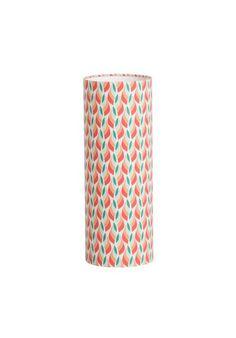 Lampe tube à poser L tissu Tori