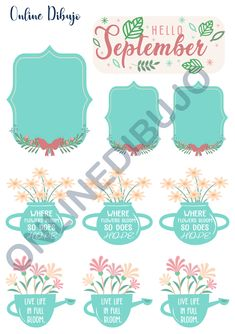 Types Of Journals, Creative Outlet, Printable Stickers, Stuff To Do, September, Bloom, Paper Crafts, Bullet Journal, Spring