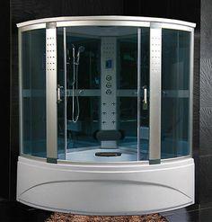 Cabina Idromassaggio 150x150 Box doccia Vasca Sauna Bagno turco CROMOTERAPIA per…