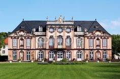 Castle Schloss Molsdorf near Erfurt in Thuringia Germany. View from the garden.