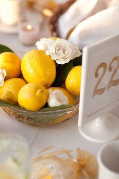 lemon centerpiece.