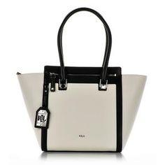 Ralph Lauren średni kuferek biało-czarny