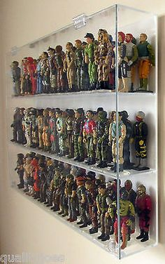 Collectors Showcase - Premium Display Case for 4 GI Joe Action Figures for sale online Gi Joe, Retro Toys, Vintage Toys, Action Figure Display Case, Photo Wall Clocks, Military Action Figures, Toy Rooms, Gifts For Office, Thing 1