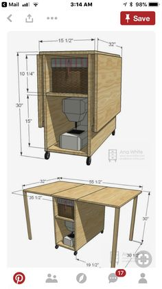 diy foldable craft table diy craft ideas pinterest n hzimmer n htische und m bel. Black Bedroom Furniture Sets. Home Design Ideas