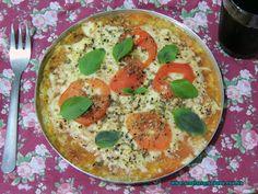 Pizza fácil com massa de abobrinha - As delícias do Dudu