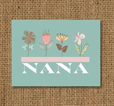 Mother's Day Card for Nana  + Matching Label