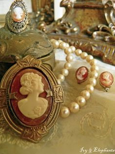 """""""Now, most cameos are carved from shell to be worn as jewelry."""""""