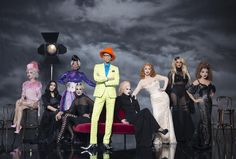 """RuPaul Reunites With All The """"Drag Race"""" Winners! In a gorgeous photo, Ru appears with champions BeBe Zahara Benet, Tyra Sanchez, Raja, Sharon Needles, Chad Michaels, Jinkx Monsoon, Bianca Del Rio and Violet Chachki."""