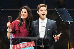 Stephanie J. Block and Aaron Tveit present at the 2013 Broadway.com Audience Choice Awards