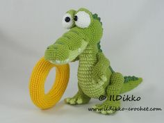 Looking for your next project? You're going to love Conrad the Crocodile - Amigurumi Pattern by designer IlDikko.