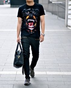 Damn you and this BADASS outfit... Givenchy T, louboutin shoes... I want