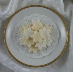 42 Mini Snowflake Shaped Sugar Cubes in Ivory & by SugarsbySharon