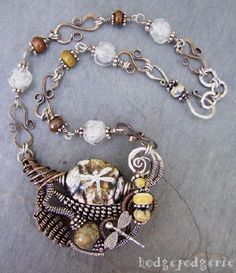 Twist, coil and manipulate wire as you create a beautiful wire collage pendant in this fun half-day workshop.