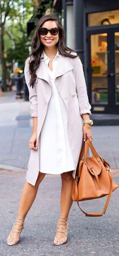 Draped Trench Coat Outfit Idea by With Love From Kat