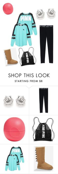"""""""My First Polyvore Outfit"""" by nykirahhhh ❤ liked on Polyvore featuring Eos, Victoria's Secret and UGG Australia"""