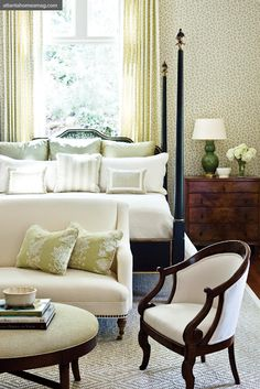 Love the idea of having a sitting area in the bedroom. Now I just need the square footage...