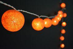 20 Lights - Chocolate Cotton Ball String Lights Fairy Lights Patio Lights Wedding Lights Decoration Lights