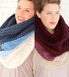 Chunky #Crochet Cowls can work even in spring