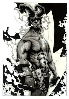 Hellboy by Brent McKee Comic Book Characters, Comic Character, Comic Books Art, Character Design, Cartoon Smoke, Dc Comics, Art Archive, Comic Book Covers, Dark Horse