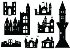 Castle Silhouette Vector – Definition of Medieval Vectors