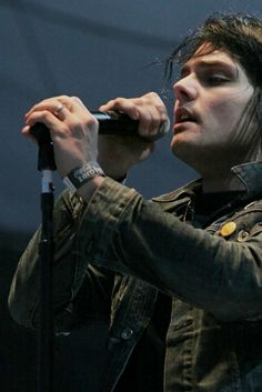 Gerard Way ~ My Chemical Romance... i love the fact that ever since he got married, he never goes without his ring :) Cause it bothers me when men dont wear their rings... idk why