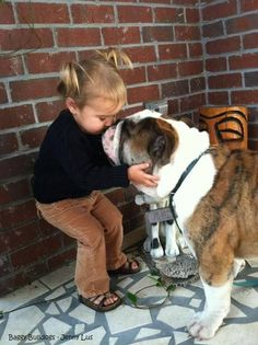 This sweet girl knows what love is all about...