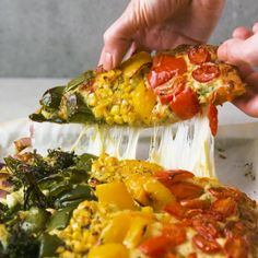 Super Easy Rainbow Pesto Pizza Pesto Pizza, Greek Yoghurt, 2 Ingredients, Baking Tips, Fresh Rolls, Super Easy, Homemade, Cooking, Raising
