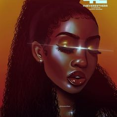 ✨Head in the (orange) clouds ✨ what's your favourite colour? Black Love Art, Black Girl Art, Art Girl, Girl Artist, African American Art, African Art, African Beauty, Drawings Of Black Girls, Natural Hair Art