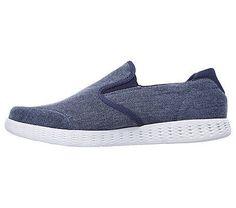 Skechers Men's On The GO Glide Victorious Slip On Sneakers (Navy)