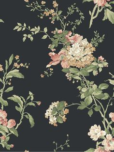 Flower Vine Wallpaper | AmericanBlinds.com