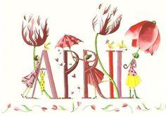 April Flower Calendar