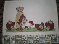 Chicken and chicks appliqué