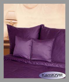 Satin bed linen Andropolu in purple | Pościel satynowa Andropolu w kolorze fioletowym