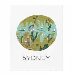 Sydney Illustrated Art Print