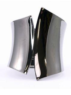 Adia Kibur Geometric Flipped Metal Cuff, $28; lifemix.net #bracelets #budget