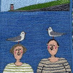 Linda Miller, embroidery