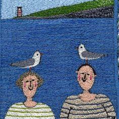 Linda Miller, embroidery