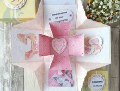 Pop Up Christening Card - Personalised Christening Card - Unique Baptism Card…