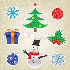 Arte vectorial : Christmas and New Year card collection
