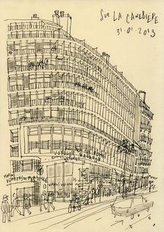 Philippe Doro : Marseille. La Canebière. Fernand Pouillon building.