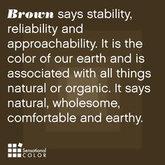 Meaning Of The Color Brown