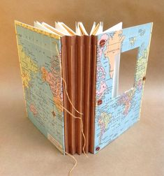 Large Expandable Travel Journal Custom Map with by UsefulBooks