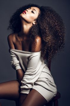 Big natural curly hair. afro, black girl :), you are beautiful!