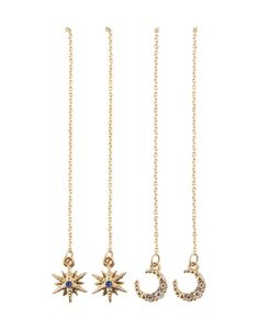 Food, Home, Clothing & General Merchandise available online! Star Shape, Gold Necklace, Moon, Pairs, Drop Earrings, Detail, Stylish, Accessories, Jewelry