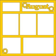 Scrapbook Titles, Scrapbooking Layouts, Digital Scrapbooking, Picture Templates, Polaroid Frame, Borders And Frames, Silhouette Cameo Projects, Flower Pots, Overlays