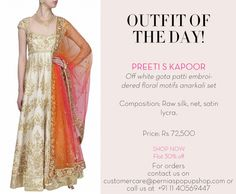 #outfitoftheday #preetiskapoor #ootd #indiandesigners #indianfashion #shopnow #perniaspopupshop #happyshopping