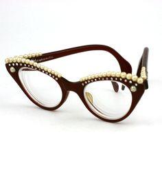 House of Schiaparelli Surreal Pearl Eyebrow Glasses image 3