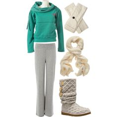 comfy clothes- makes me want to cuddle on the sofa with a cup of hot chocolate and a good movie
