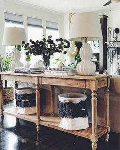 Shop this pic from – Decorating Foyer Sofa Table Styling, Table Sofa, Wooden Console Table, Foyer Table Decor, Entryway Tables, Living Room With Fireplace, Living Room Sofa, Fall Home Decor, Autumn Home