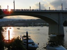Sunset over the Market Street Bridge 2013